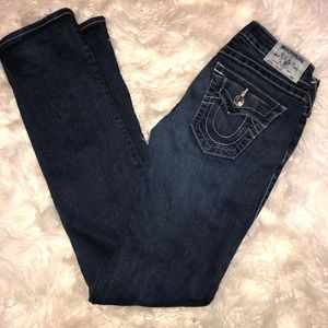 ♥️ True Religion Dark Denim Straight Leg Jeans 26